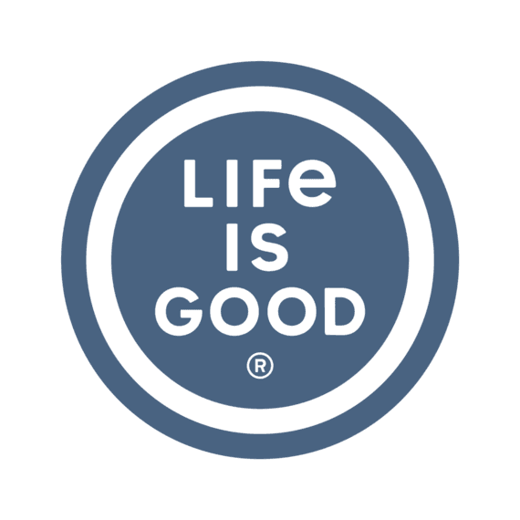 """Life is Good Coin 4"""" Circle Sticker,-1"""