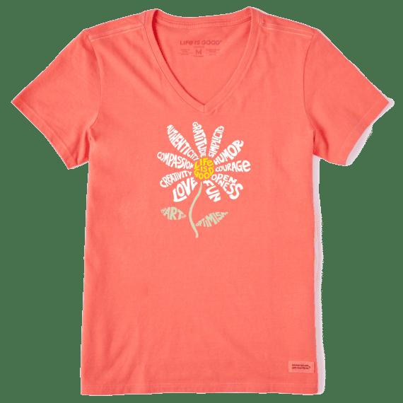 W's Superpower Daisy Crusher Vee, Mango Orange-1