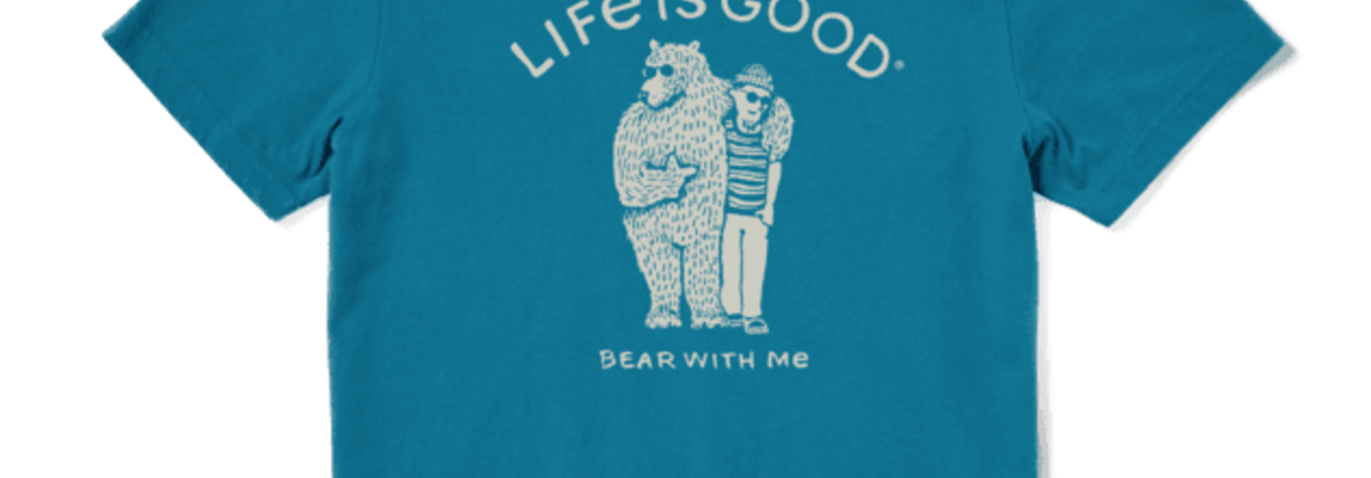 M's Bear With Me Friend Crusher Tee, Persian Blue