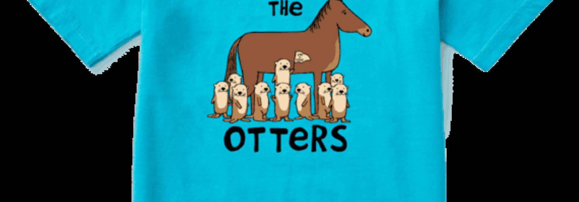 Kid's Not Like the Otters Crusher Tee, Island Blue