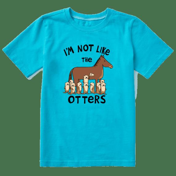 Kid's Not Like the Otters Crusher Tee, Island Blue-1