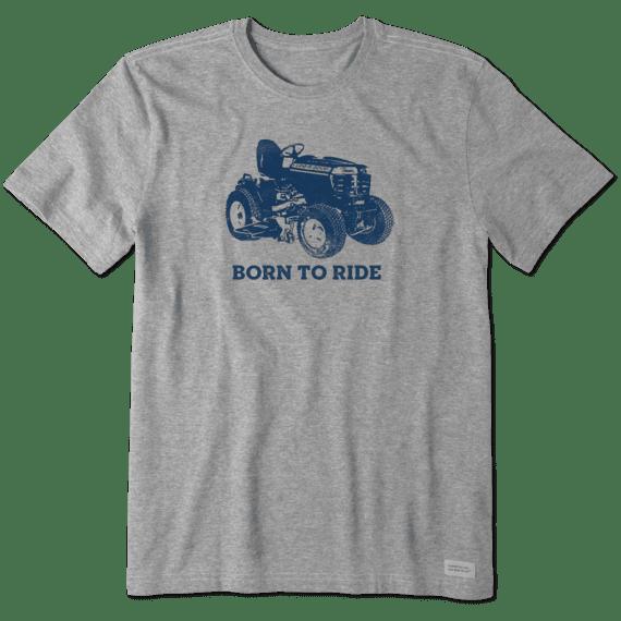 M's Born to Ride Mower Crusher Tee,  Heather Gray-1