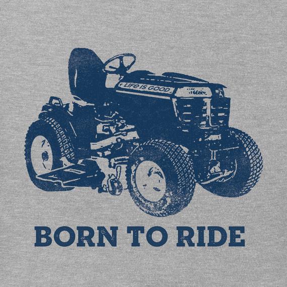 M's Born to Ride Mower Crusher Tee,  Heather Gray-2