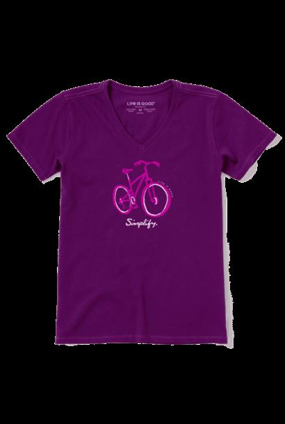 W's Simple Bike Sketch Crusher-LITE Vee, Purple Haze
