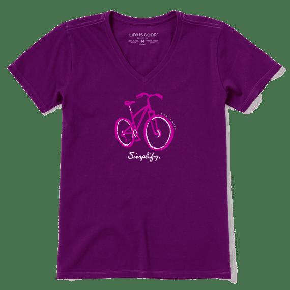 W's Simple Bike Sketch Crusher-LITE Vee, Purple Haze-1