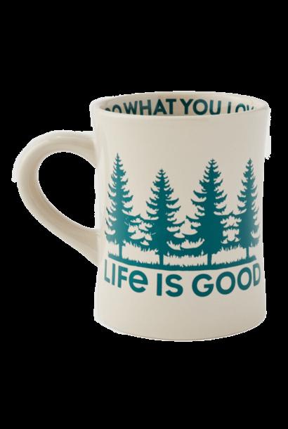 LIG Trees Diner Mug, Bone