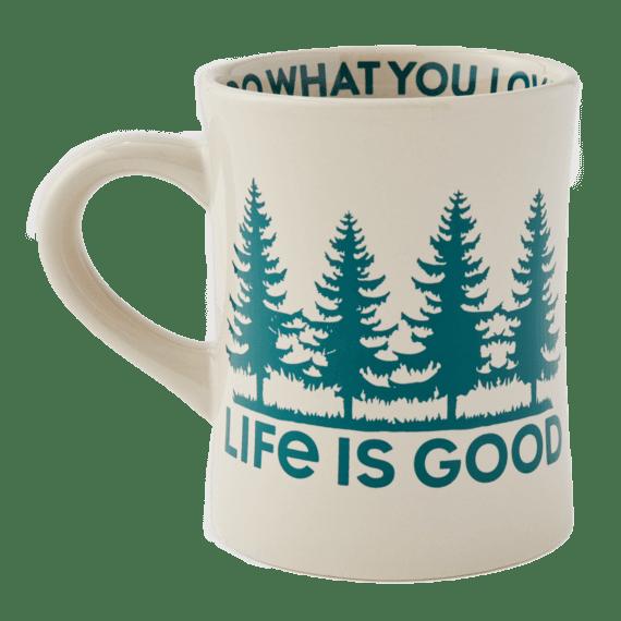 LIG Trees Diner Mug, Bone-1