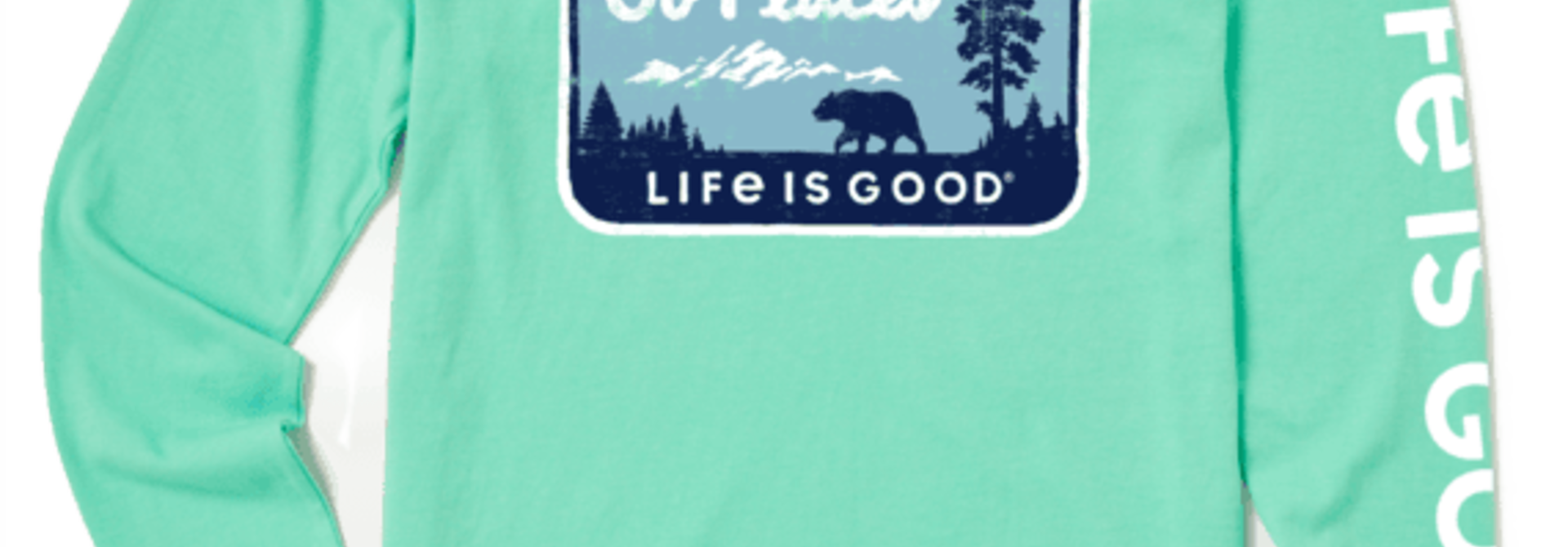 W's Go Places National Park Crusher-LITE Long Sleeve Crew, Spearmint Green