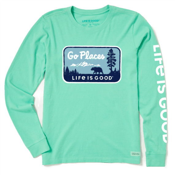 W's Go Places National Park Crusher-LITE Long Sleeve Crew, Spearmint Green-1