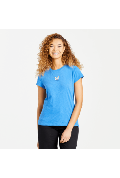 W's LIG Colorful Butterfly Textured Slub Tee, Royal Blue