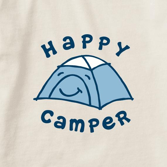 Kid's Toddler Happy Camper Vintage Crusher Tee, Putty White-2