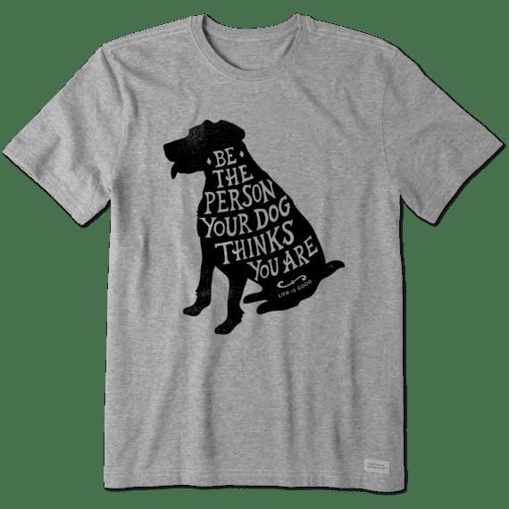 M Crusher Tee Be the Dog, Heather Gray-1
