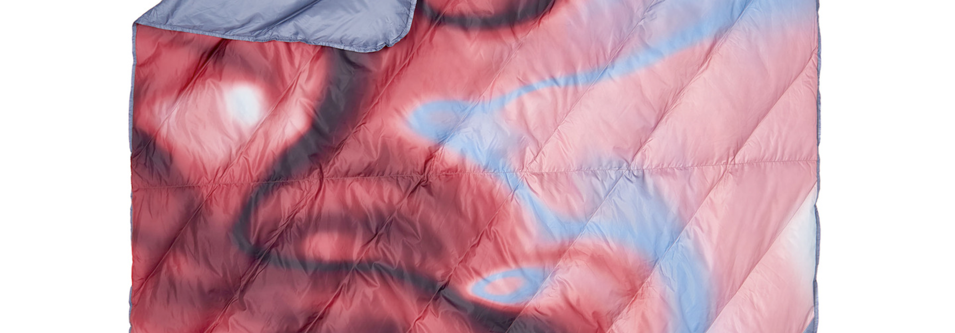 Galactic Down Blanket, Cranberry /Atmosphere