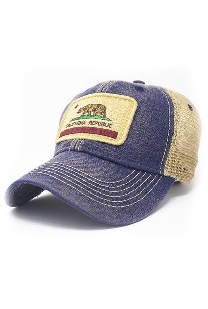 California State Flag Trucker Hat, Navy