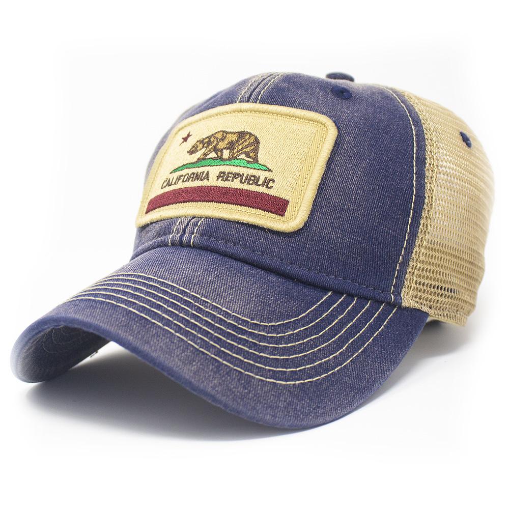 California State Flag Trucker Hat, Navy-1