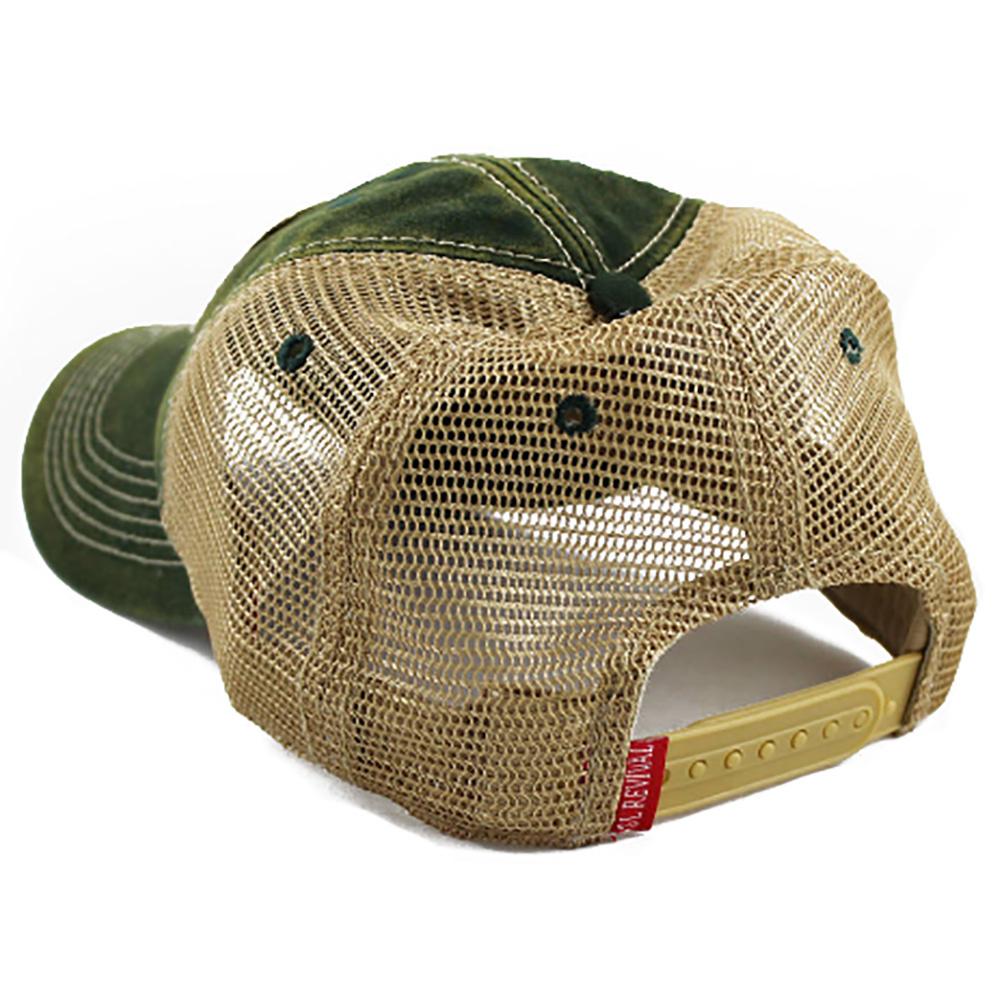 Montana Flag Patch Trucker Hat, Green-2