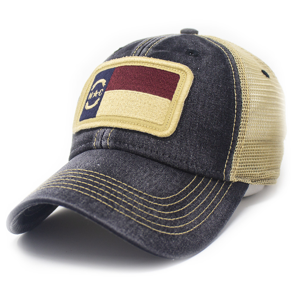NC Flag Trucker Hat, Black-1