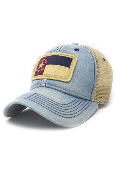 North Carolina 1861 Flag Trucker Hat, Americana Blue