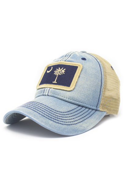 SC Flag Trucker Hat, Americana Blue