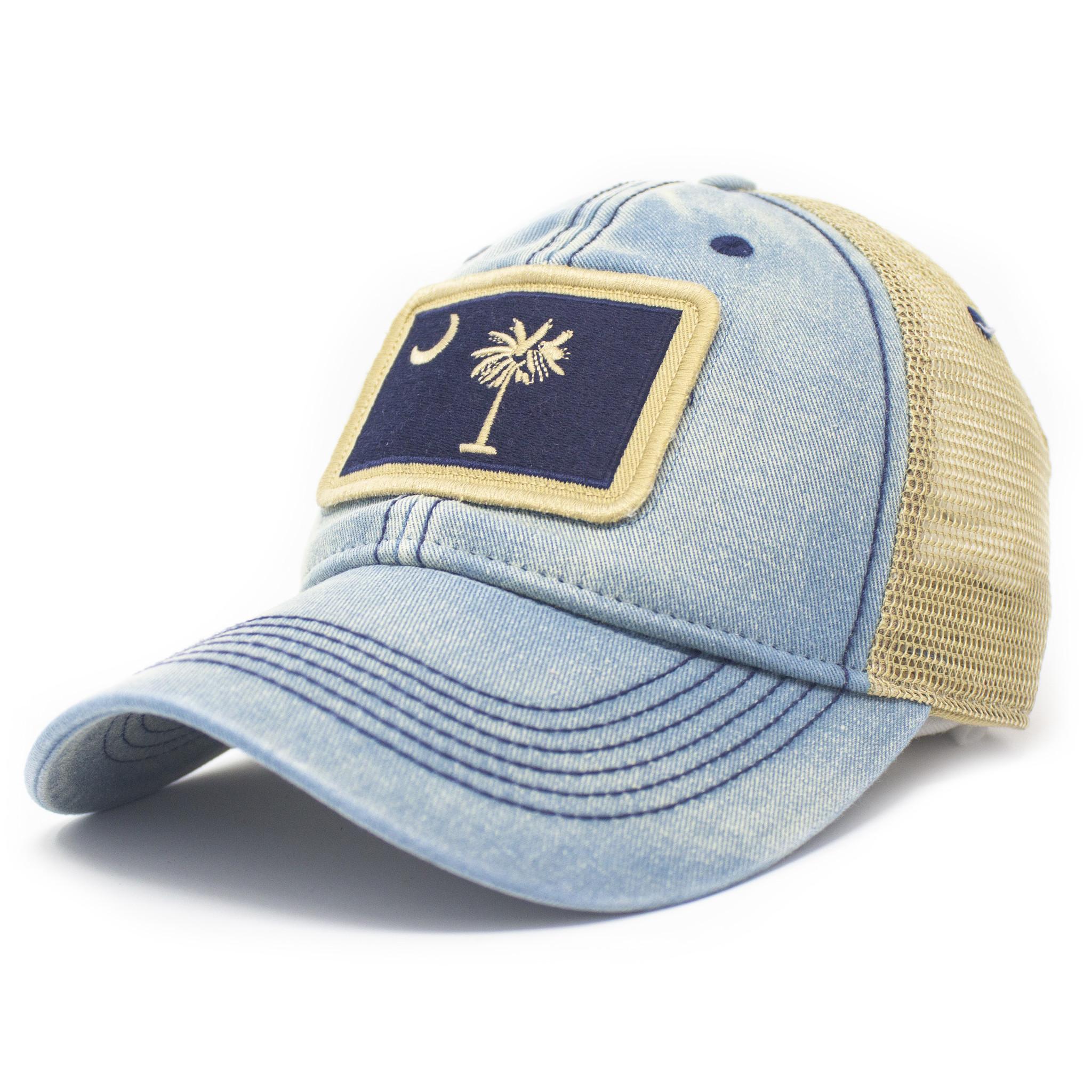 SC Flag Trucker Hat, Americana Blue-1