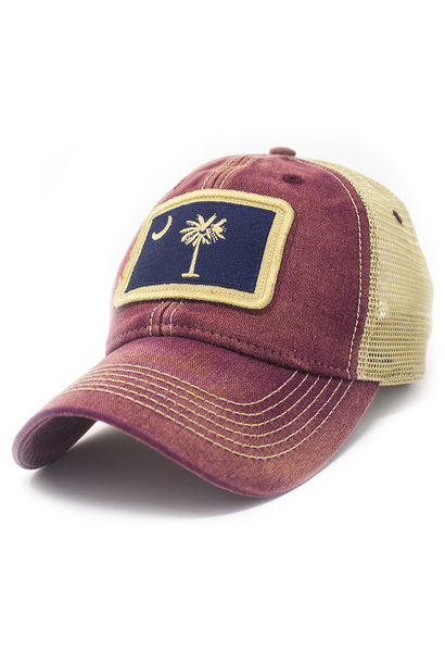 South Carolina Trucker Flag Hat, Brick Red