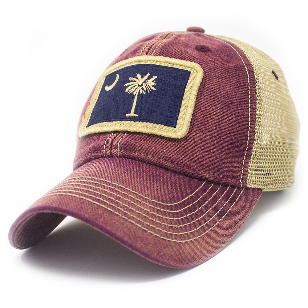 South Carolina Trucker Flag Hat, Brick Red-1