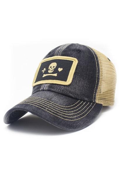 Stede Bonnet Flag Trucker Hat, Black