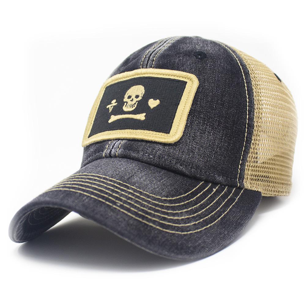Stede Bonnet Flag Trucker Hat, Black-1