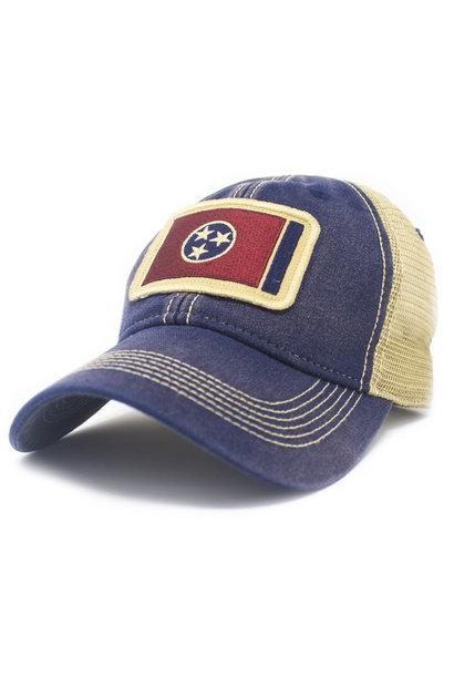 Tennessee Flag Trucker Hat, Navy