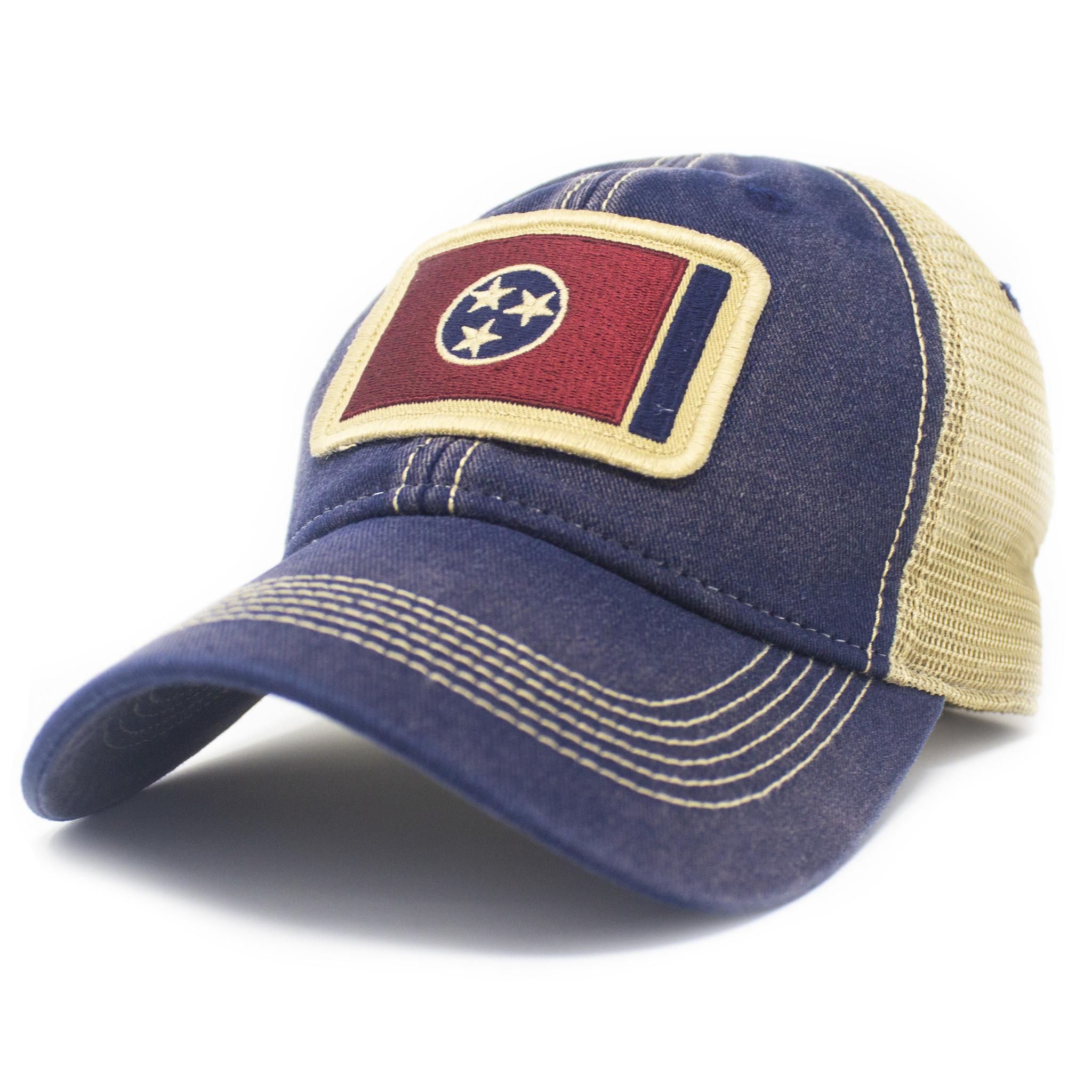 Tennessee Flag Trucker Hat, Navy-1