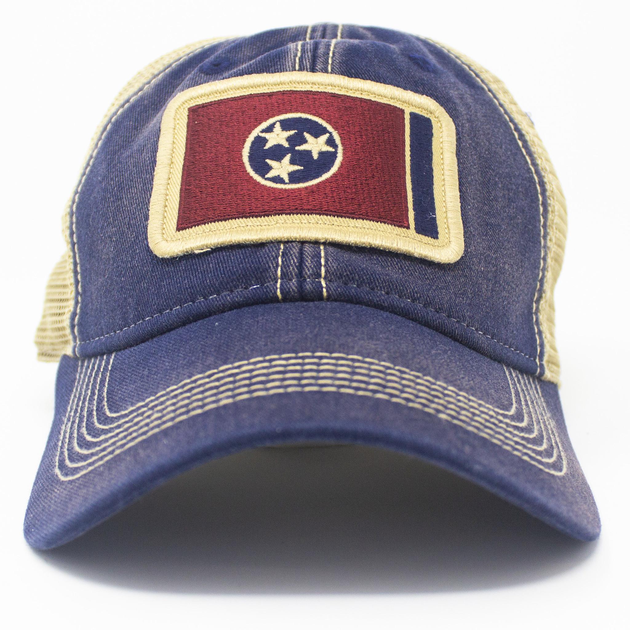 Tennessee Flag Trucker Hat, Navy-3