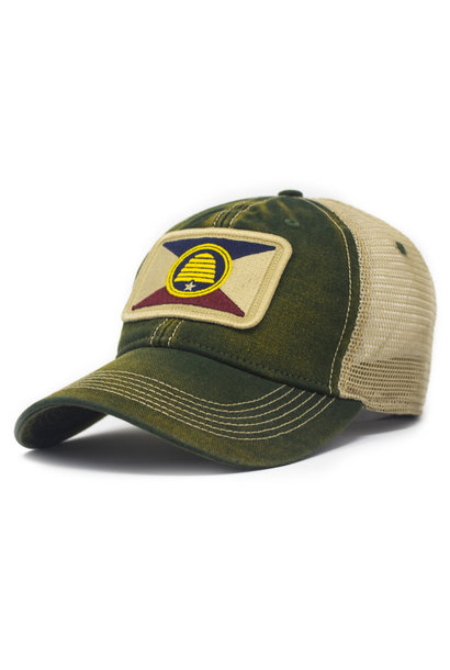 Utah Flag Patch Trucker Hat, Green