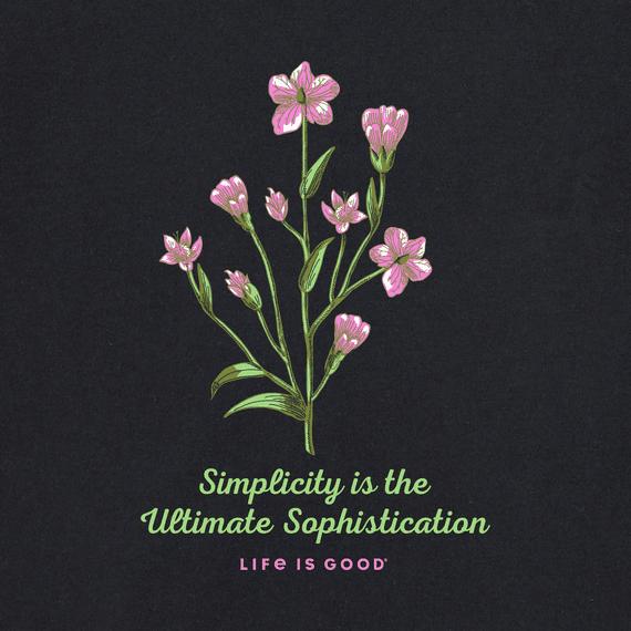 W' Simplicity is the Ultimate Sophistication Long Sleeve Crusher Vee, Darkest Blue-3