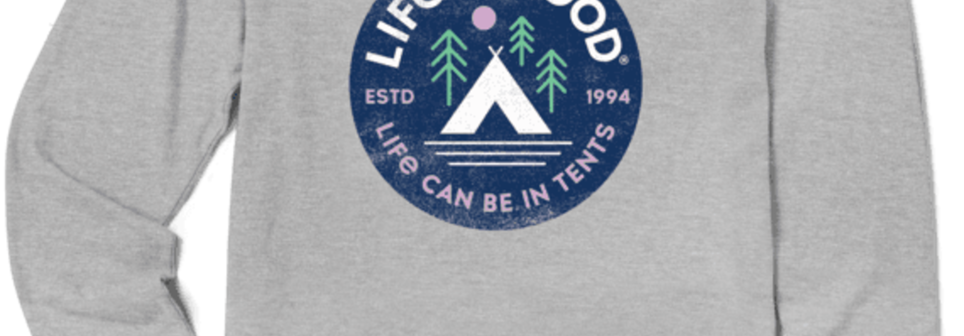 W's In Tents 94 Crusher-Lite Long Sleeve Crew, Heather Gray