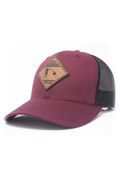 Blackbeard Leather Patch Lo Pro Trucker Hat