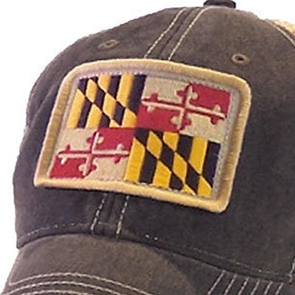 Maryland Flag Trucker Hat, Black-3