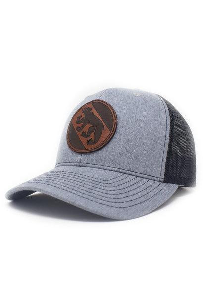 New Bern, Trucker Hat, Heather Grey/Black