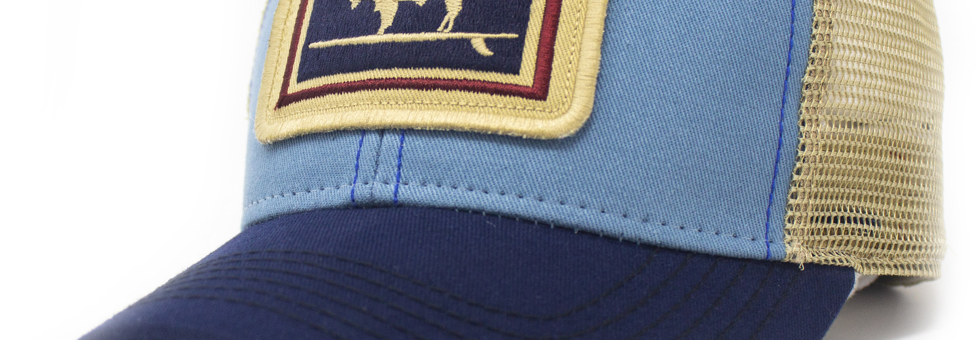 Surfing Buffalo Everyday Trucker Hat Structured, Blue