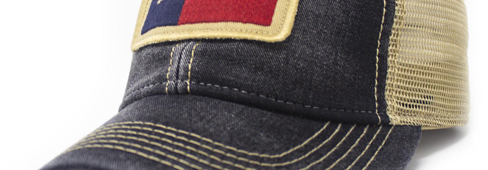 Texas State Flag Trucker Hat, Black