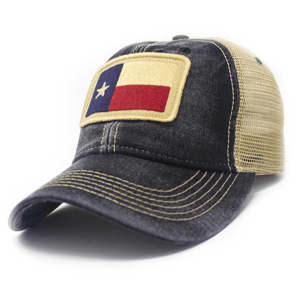Texas State Flag Trucker Hat, Black-1