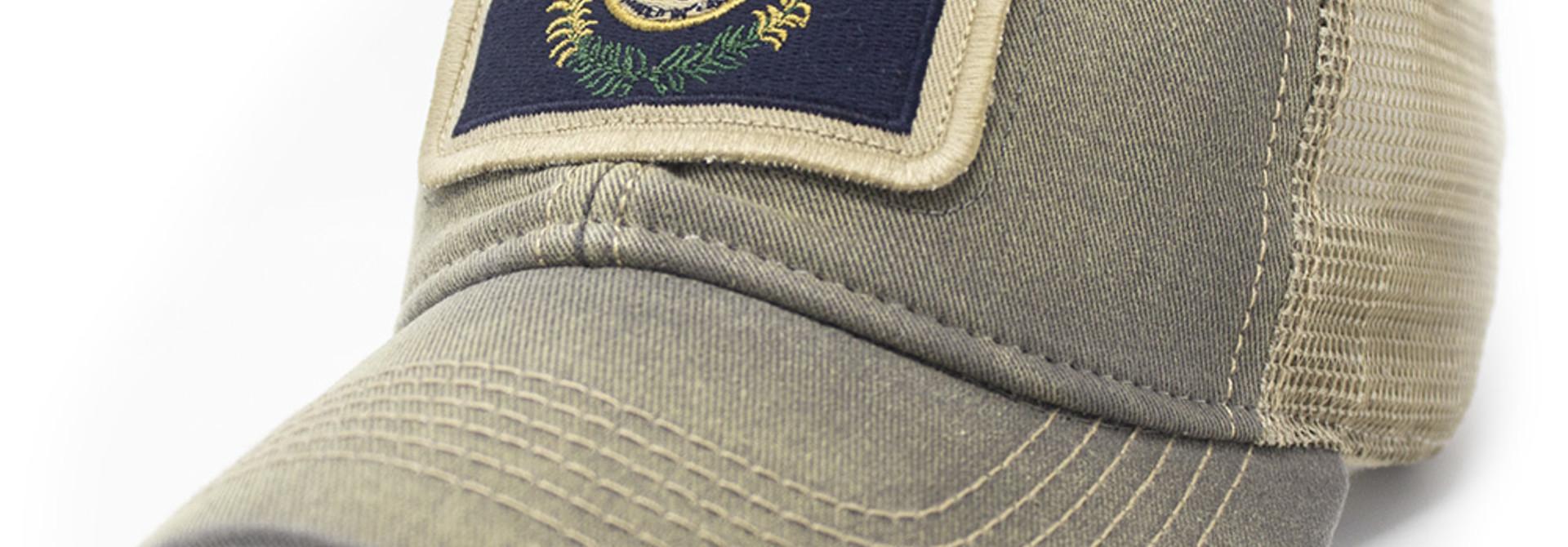 Kentucky Flag Trucker Hat, Drifter Gray