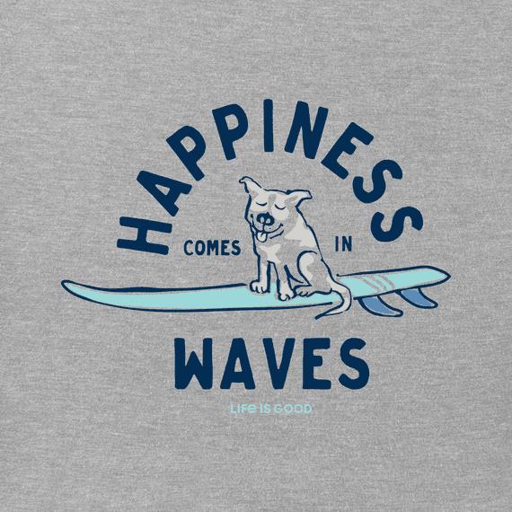 M's Surfer Dog Happiness Crusher-Lite Tee, Heather Gray-2