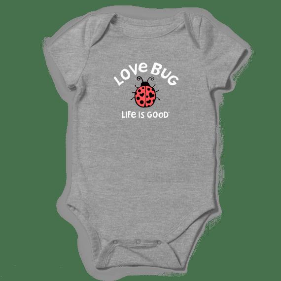 Kid's Baby Love Crusher Bodysuit, Heather Gray-1