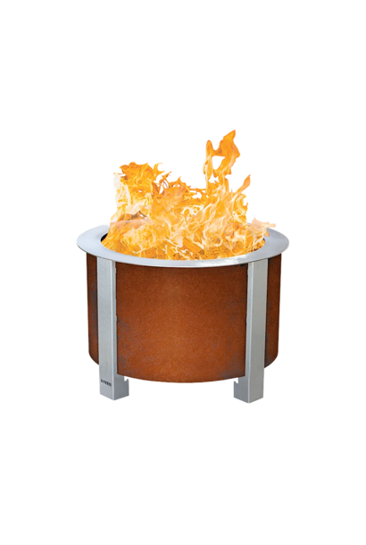 X Series 19 Smokeless Firepit, Corten Steel, Standard Rim