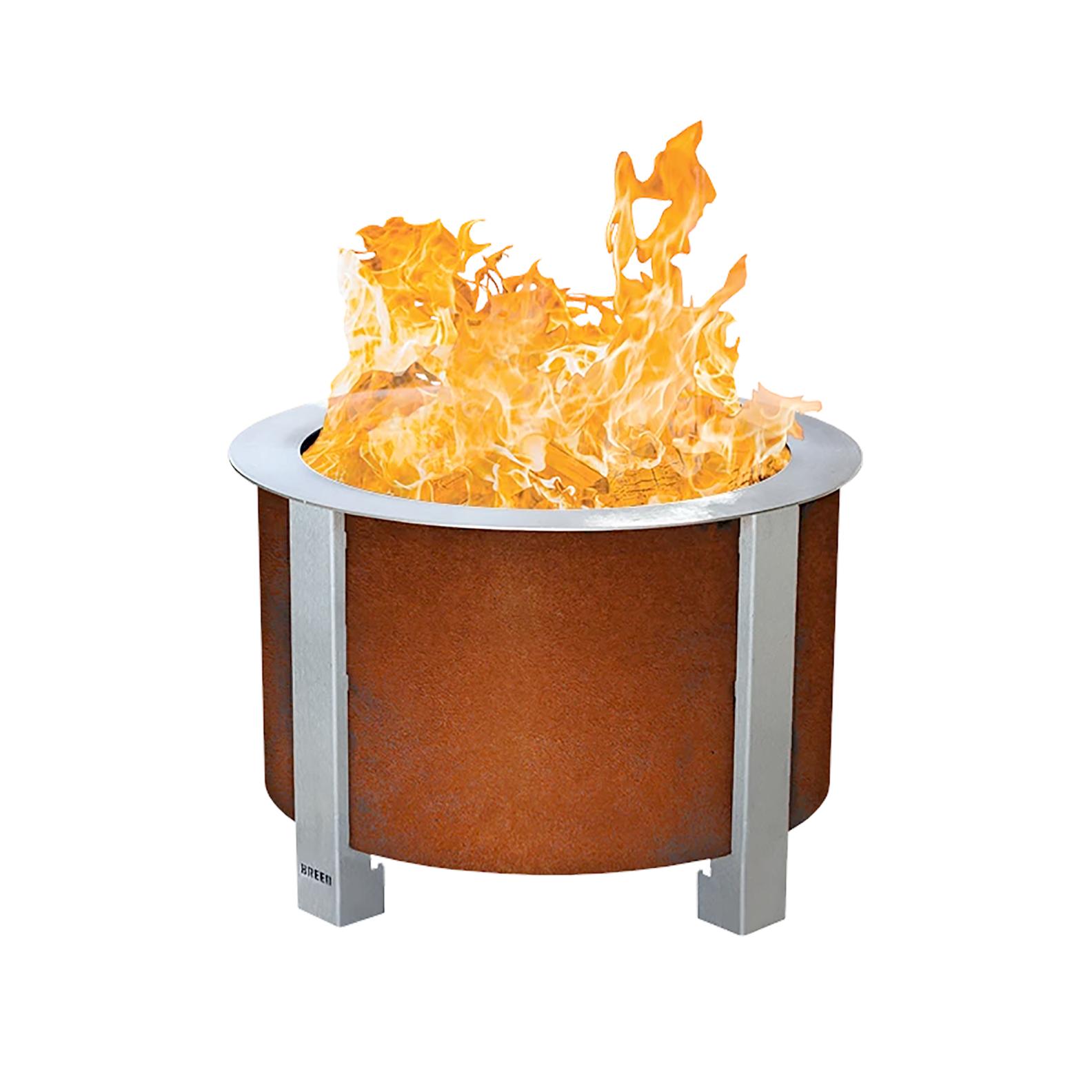 X Series 19 Smokeless Firepit, Corten Steel, Standard Rim-1