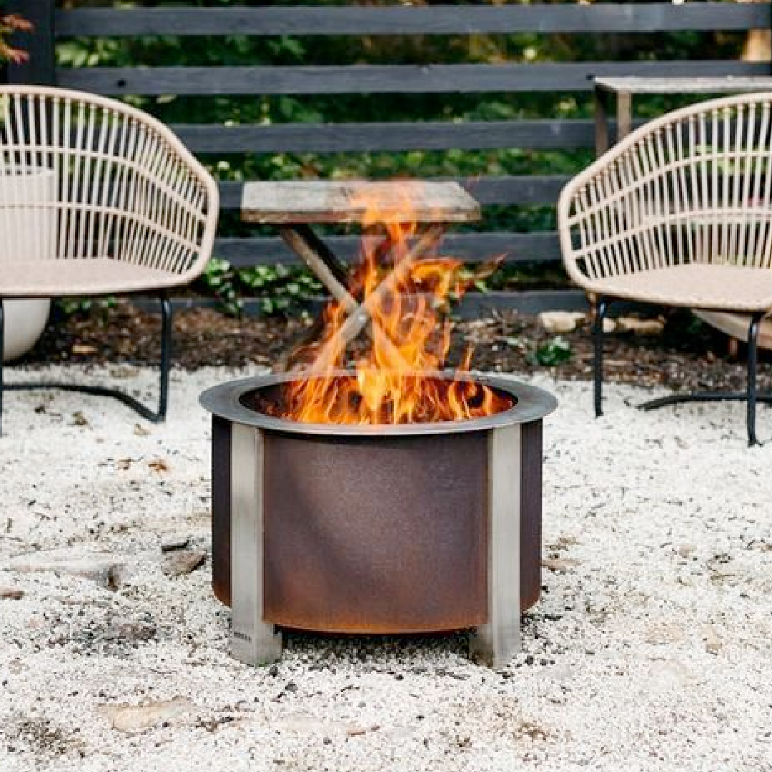 X Series 19 Smokeless Firepit, Corten Steel, Standard Rim-2