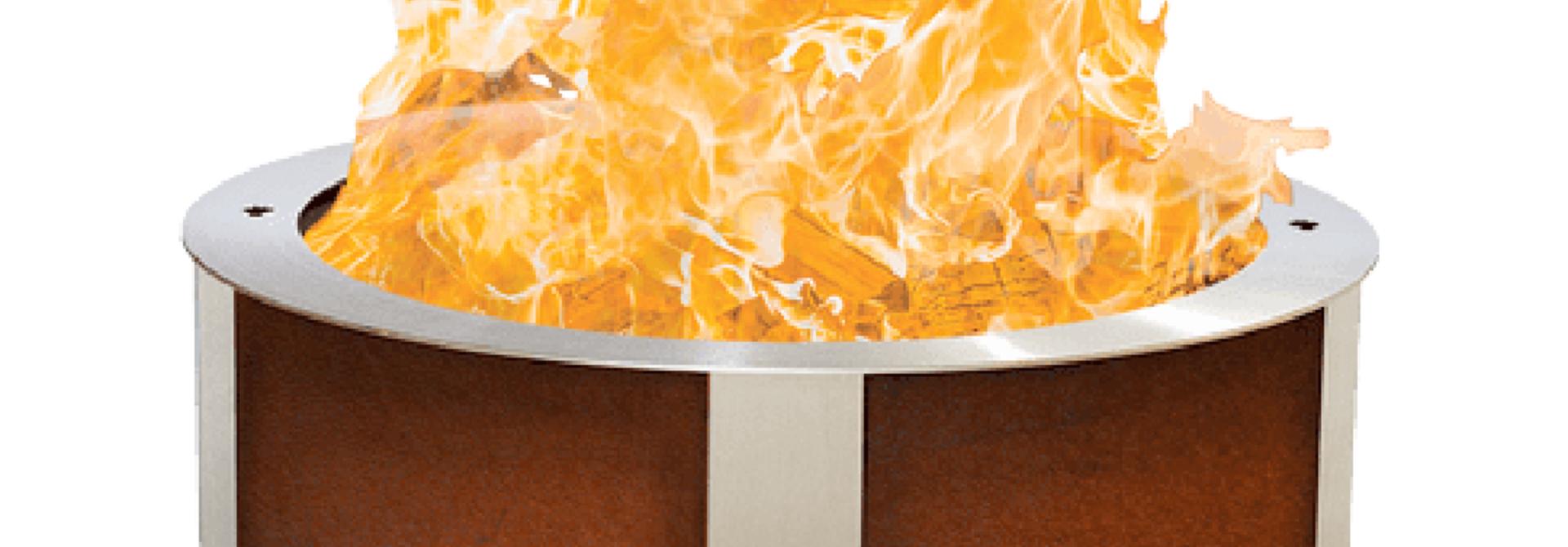 X Series 24 Smokeless Firepit, Corten Steel, Standard Rim