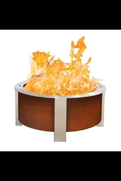 X Series 30  Smokeless Firepit, Corten Steel, Standard Rim