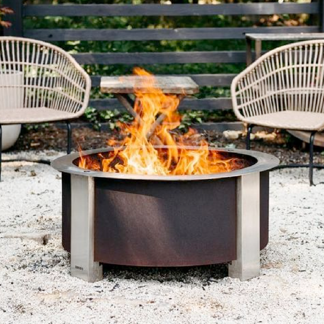 X Series 24 Smokeless Firepit, Corten Steel, Standard Rim-2