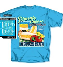 Tried and True Pimento Cheese Sandwich T-shirt, Sapphire